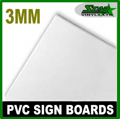 3mm Foam PVC White Sign Boards