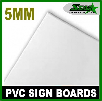 5mm PVC White Sign Boards