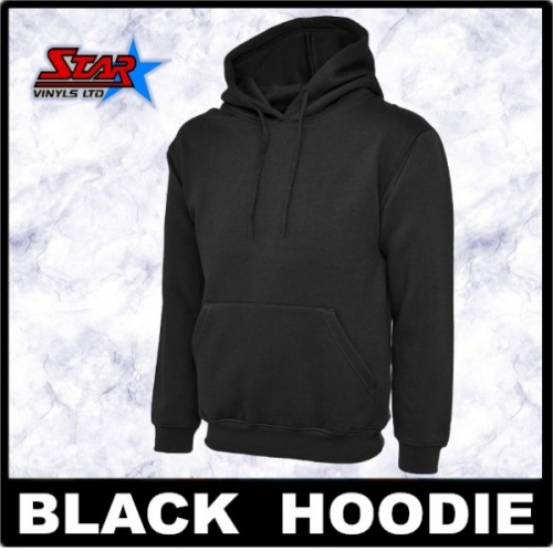 Black Hoody 4 Pack Size Small