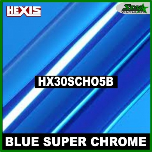 Hexis Blue Super Chrome HX30SCH05B