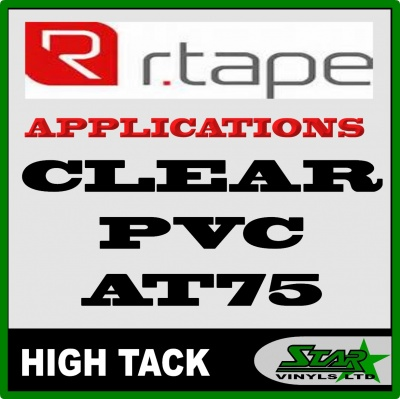 R Tape Clear Application Tape AT75