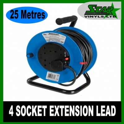25m Extension Lead with 4 Sockets