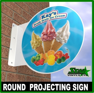 Round Aluminium Projecting Sign