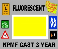 KPMF Flourescent Yellow Gloss Vinyl