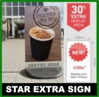 Star Extra Pavement Sign