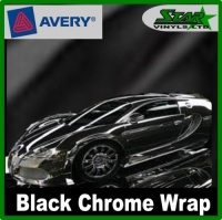 Avery Black Chrome Wrap