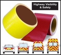 Reflexite VC612 Red Reflective + Yellow Flourescent Bundle 150mm