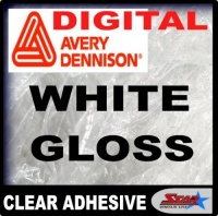 Digital White Gloss Clear Adhesive Avery MPI 2800 Polymeric
